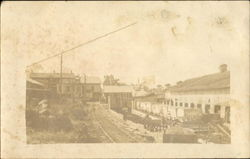 Old Faded Photo of a Trainyard