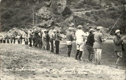 Sport Fishermen Casting For Chinook Salmon