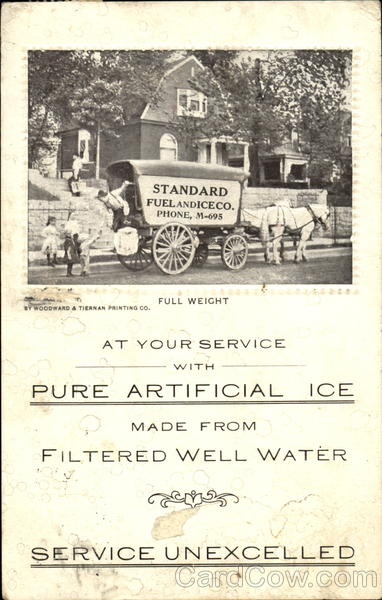 Standard Fuel & Ice Co. Delivery Wagon Advertising