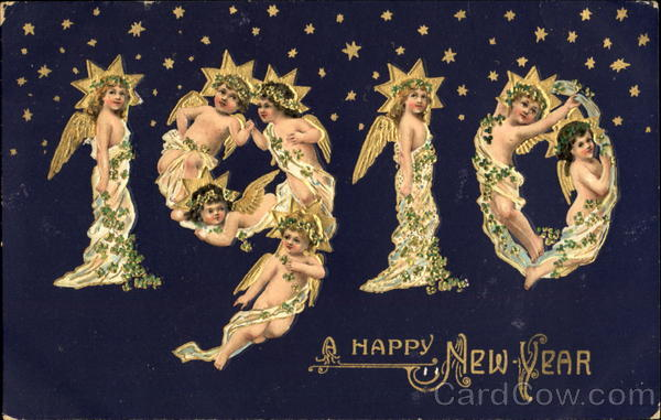 A Happy New Year 1910 New Year's Years