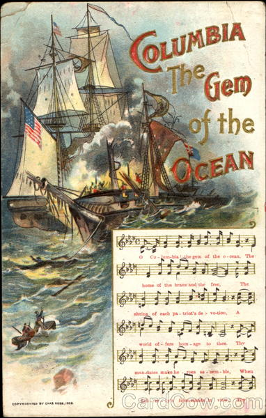 Columbia The Gem Of The Ocean Boats, Ships Lyrics