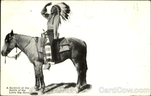 A Survivor Of The Battle Of The Little Big Horn Native Americana