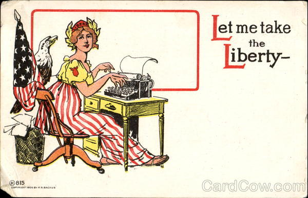 Let Me Take The Liberty Patriotic Typewriters