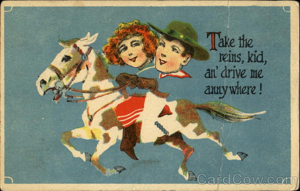 Take The Reins Lad An Drive Me Anny Where! Cowboy Western