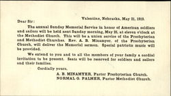 1919 Soldiers and Sailors Memorial Notice