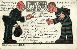 Prisoner - Pardon Postcard