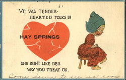 Ve Vas Tender Hearted Folks In Hay Springs