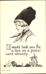 I Vould Tank You For A Line On A Postal Cards Already