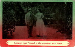 Longest Way Round Is The Sweetest Way Home Postcard