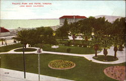 Pacific Park And Hotel Virginia Postcard