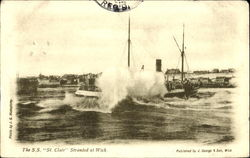 The S. S. St. Clair Stranded at Wick