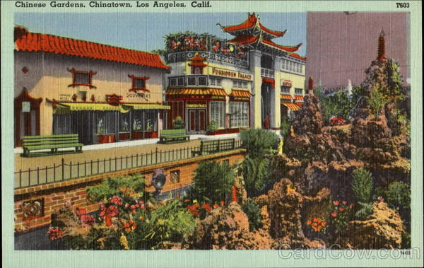 Chinese Gardens, Chinatown Los Angeles California