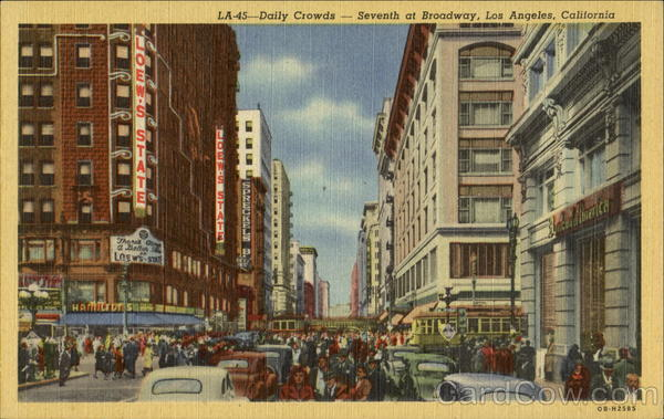 Daily Crowds, Seventh At Broadway Los Angeles California