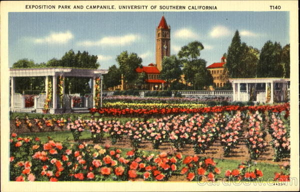 Exposition Park And Campanile, University Of southern alifornia Los Angeles California