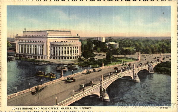 Jones Bridge And Post Office Manila Philippines