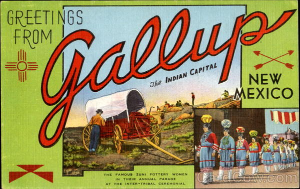 Greetings From Gallup New Mexico Large Letter