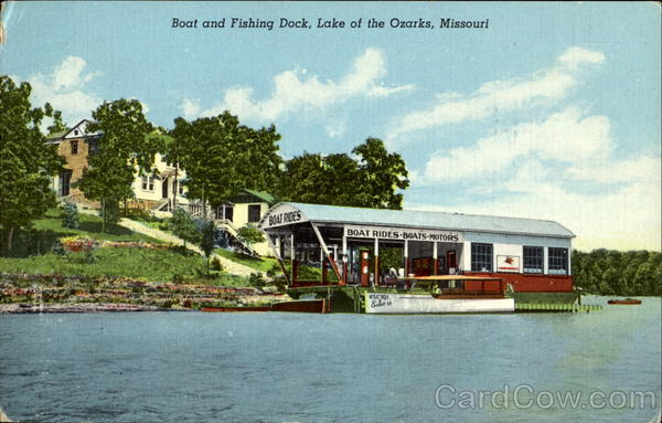 Boat And Fishing Dock Lake of the Ozarks Missouri
