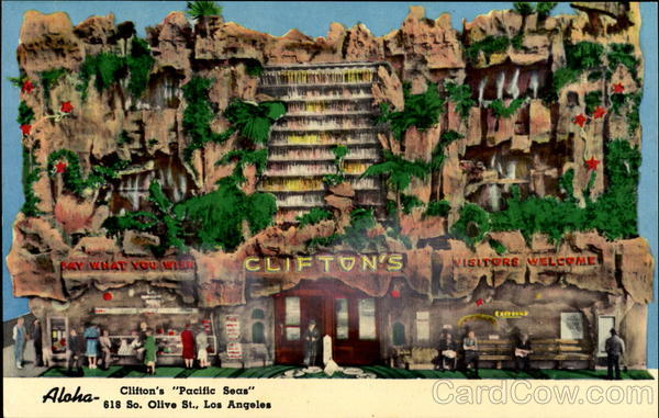 Clifton's Pacific Seas, 618 S. Olive St Los Angeles California