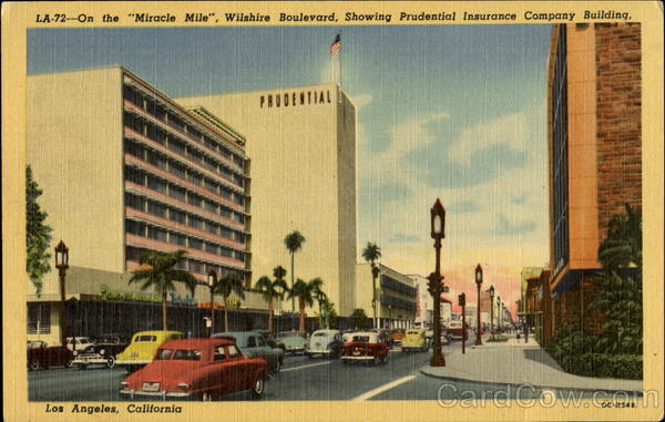 On The Miracle Mile Wilshire Boulevard Los Angeles California