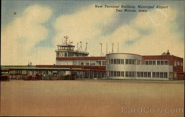 New Terminal Building, Municipal Airport Des Moines Iowa