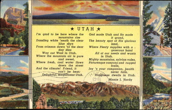 Utah Poem - Minnie J. Hardy