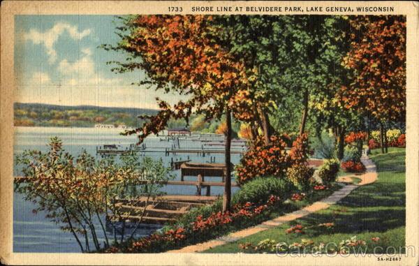 shore line at belvidere park lake geneva wi. Black Bedroom Furniture Sets. Home Design Ideas
