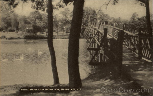 Rustic Bridge Over Spring Lake New Jersey