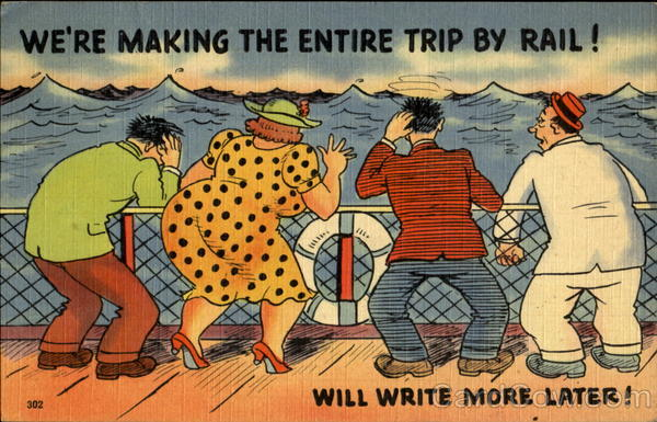 We're Making The Entire Trip By Rail! Comic, Funny