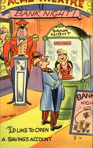 Bank Night Comic, Funny