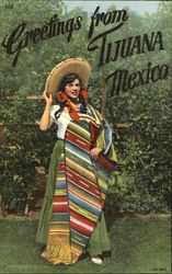 Greetings From Tijuana Mexico Postcard