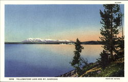 Yellowstone Lake And Mt. Sheridan