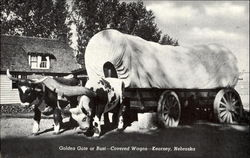 Golden Gate Or Bust-Covered Wagon