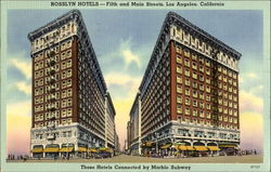 Rosslyn Hotels, Fifth and Main Streets Postcard