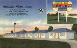 Nordland Motor Lodge, U. S. Routes 22 & 72, 22 Miles East, 6 Miles North of Lebanon