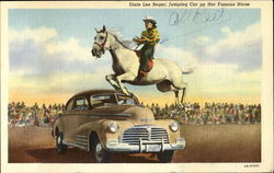Dixie Lee Reger Jumping Car On Her Famous Horse