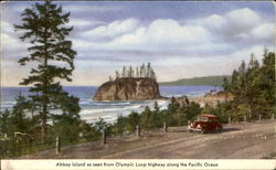 Abbey Island As Seen From Olympic Loop Highway Along The Pacific Ocean