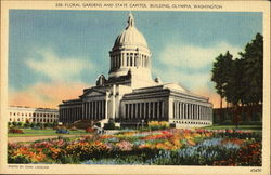 Floral Gardens And State Capitol Building