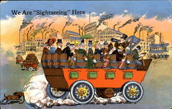 Beer Wagon We Are Sightseeing Here Postcard