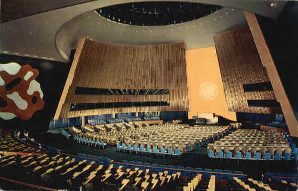 General Assembly Hall in United Nations Head guarters New York City