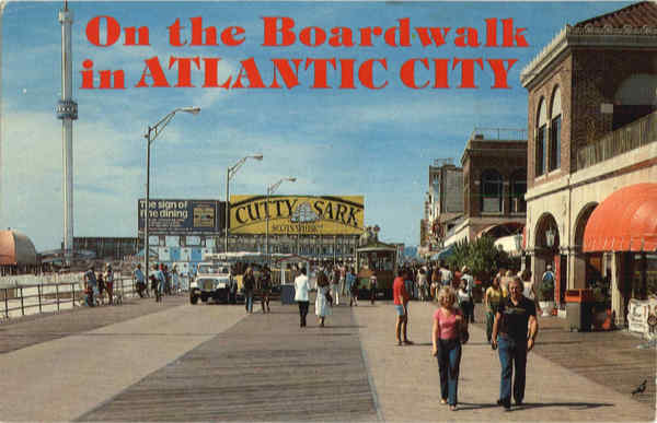 On the Boardwalk in Atlantic City New Jersey