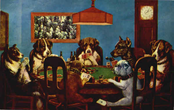 Dogs Playing Poker Only A Friend Needed Comic, Funny