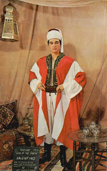 Rudolph Valentino in The Son of the Sheik, Movieland Wax Museum