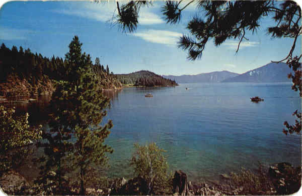 Whiskey Rock on Lake Pend Oreille Idaho