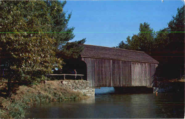 Covered Bridge Old Storbridge Village Virginia