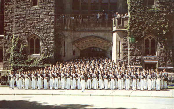 Cadets in Front of Washington Hall West Point New York