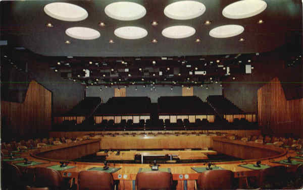 United Nations Economic and Social Council Chamber New York City