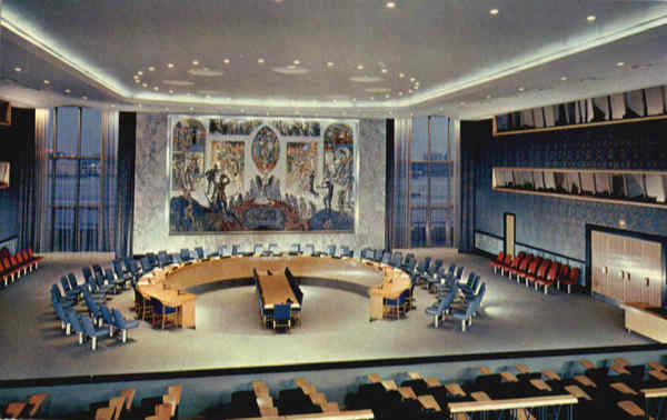 United Nations Security Council Chamber New York City