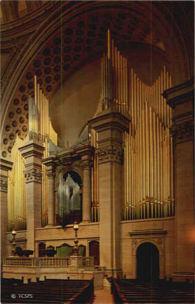Platform and Pipe Organ of The First Church of Christ, Scientist Boston Massachusetts