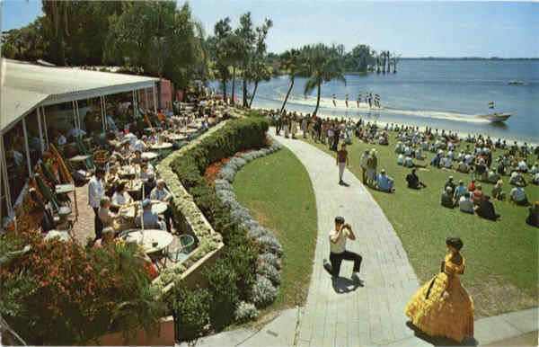 A view of the beautiful Terrace overlooking Cypress Gardens Florida