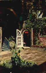 Lovely Brulatour Courtyard, Royal St., in the Vieux Carre Postcard